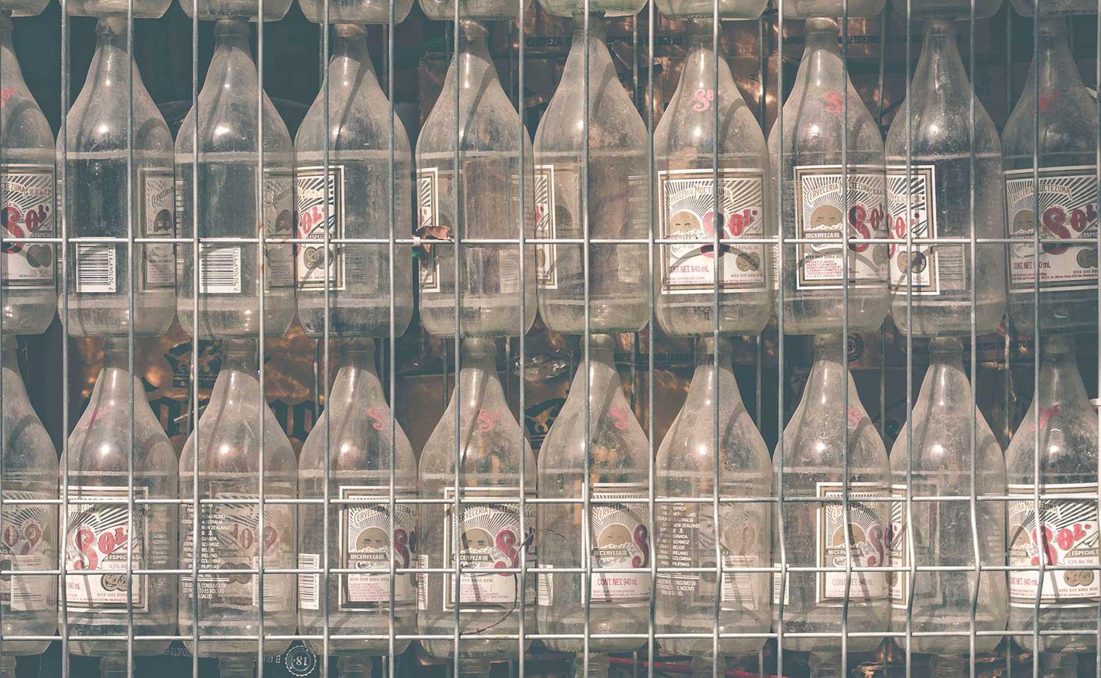 dreckige Flaschen